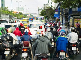 Thousands of motorcycles invade the streets of Ho Chi Minh