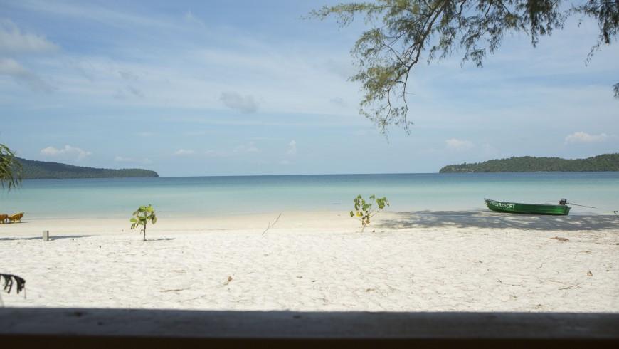 The white beach of Koh Rong Samloem, Cambodia