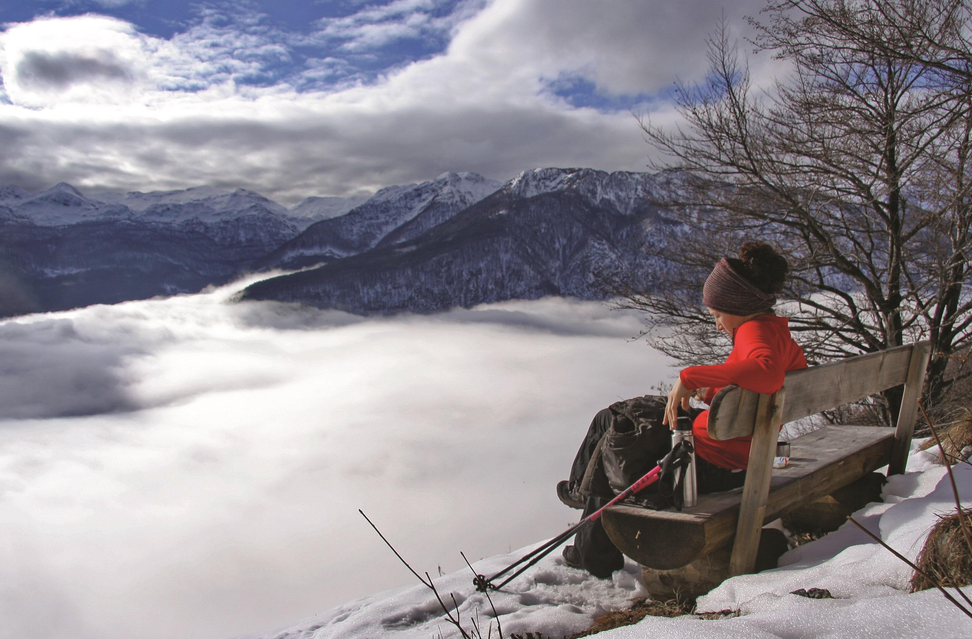 il monte Vogar nella neve
