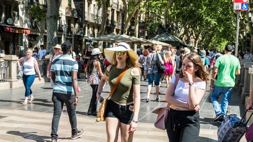 Overcrowded Barcelona