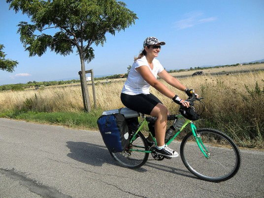 Cycling along the river Adda in Brianza
