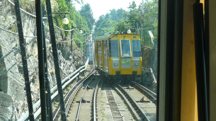 The Como-Brunate Funicular gives unbelievable views on Lake Como
