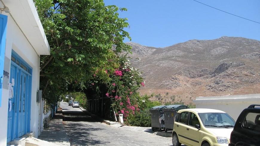 Tilos Greece street