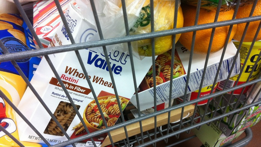 Grocery shopping, food waste