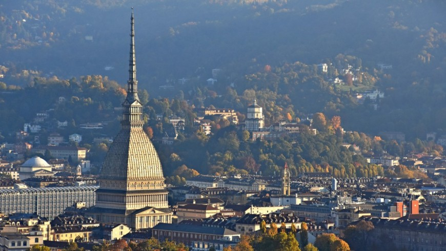 Turin, view of the city with Mole Antoleniana