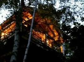 A tree house and B&B in Piedmont, North Italy