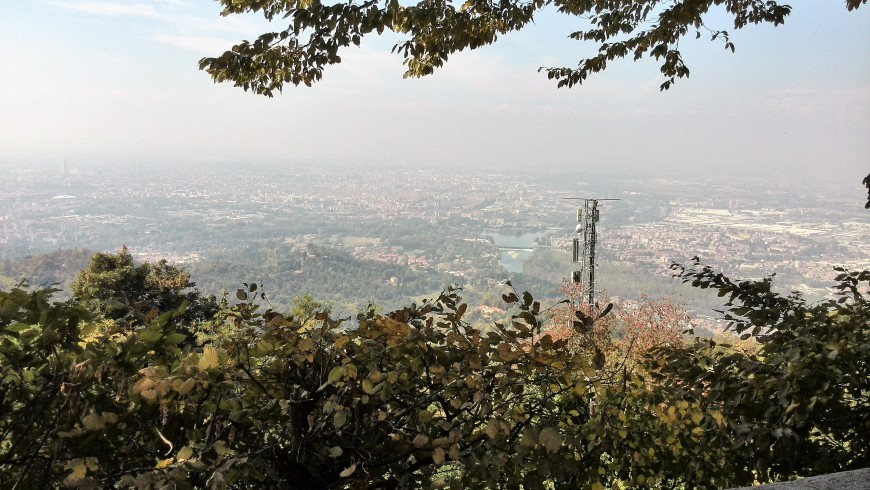 Landscape from the hills near Turin