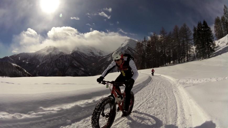 Snow sports, fat bike in Val di Non