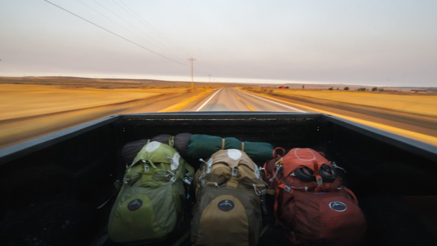 Traveling woth a backpack