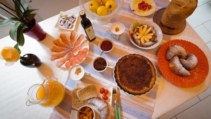 First breakfast with local products, Casa Francesca, Lake Garda