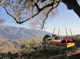 Panorama from the B&B, Andalucia, green tourist facilities