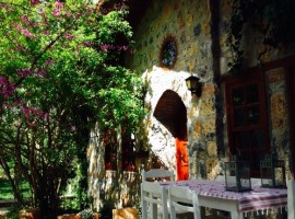 Fig Garden Cottage from the outside, green tourist facilities
