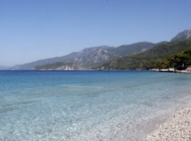The beach near the farmhouse, Greece, green tourist facilities