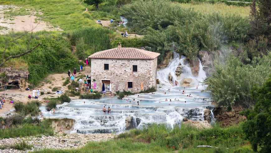 Wellness getaway in Italy: Saturnia Hot Springs
