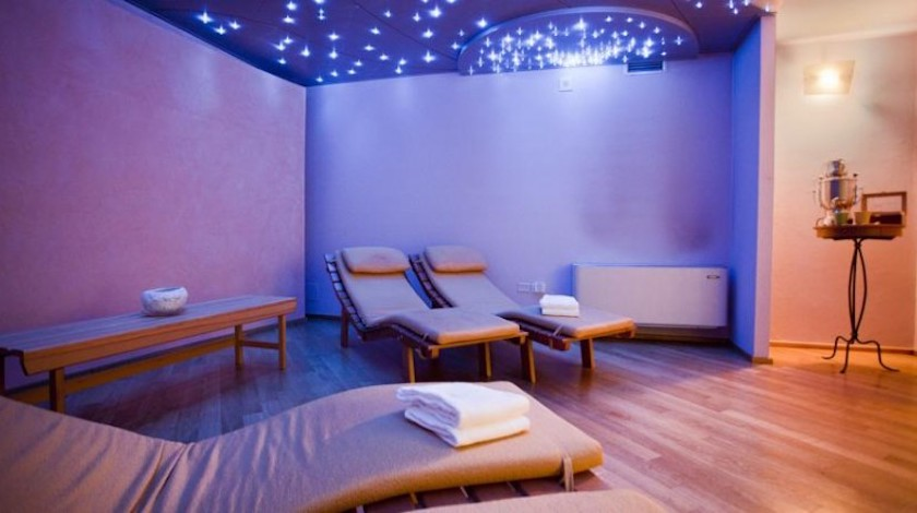 Wellnesss area in a green accommodation in Italy