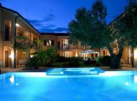 Swimming pool at night, Villa Andrea, Marina di Camerota