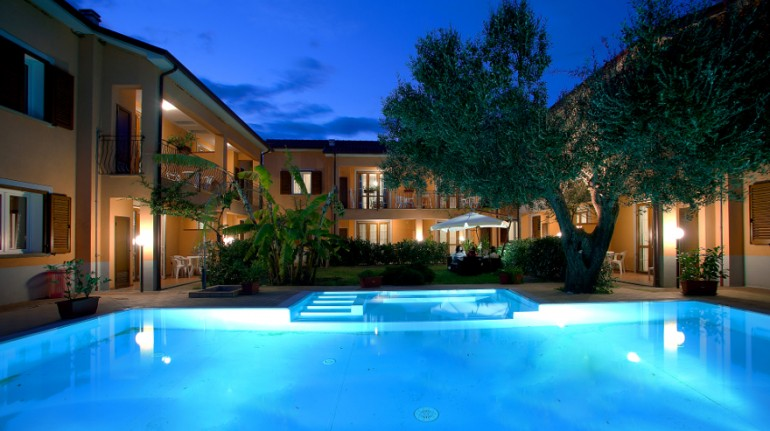 Swimming pool at night, Villa Andrea, Marina di Camerota