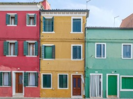 Colors in Burano, photo by Christian Holzinger via Unsplash