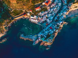 Cinque Terre from above, photo by Wellington Rodrigues via Unsplash