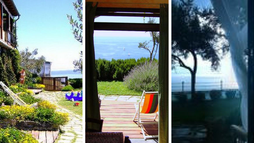 An organic farm overlooking the sea of Liguria