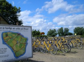 Cycling on Hven, Sweden