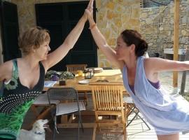 Yoga - Agrilunassa, in Bordighera hills, Liguria (Italy)