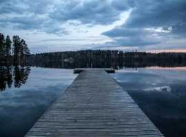 Dock into the water in Finland
