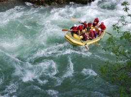 Rafting on Lim River, Serbia