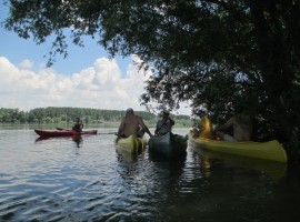 One day in a canoe along the Danube in Serbia