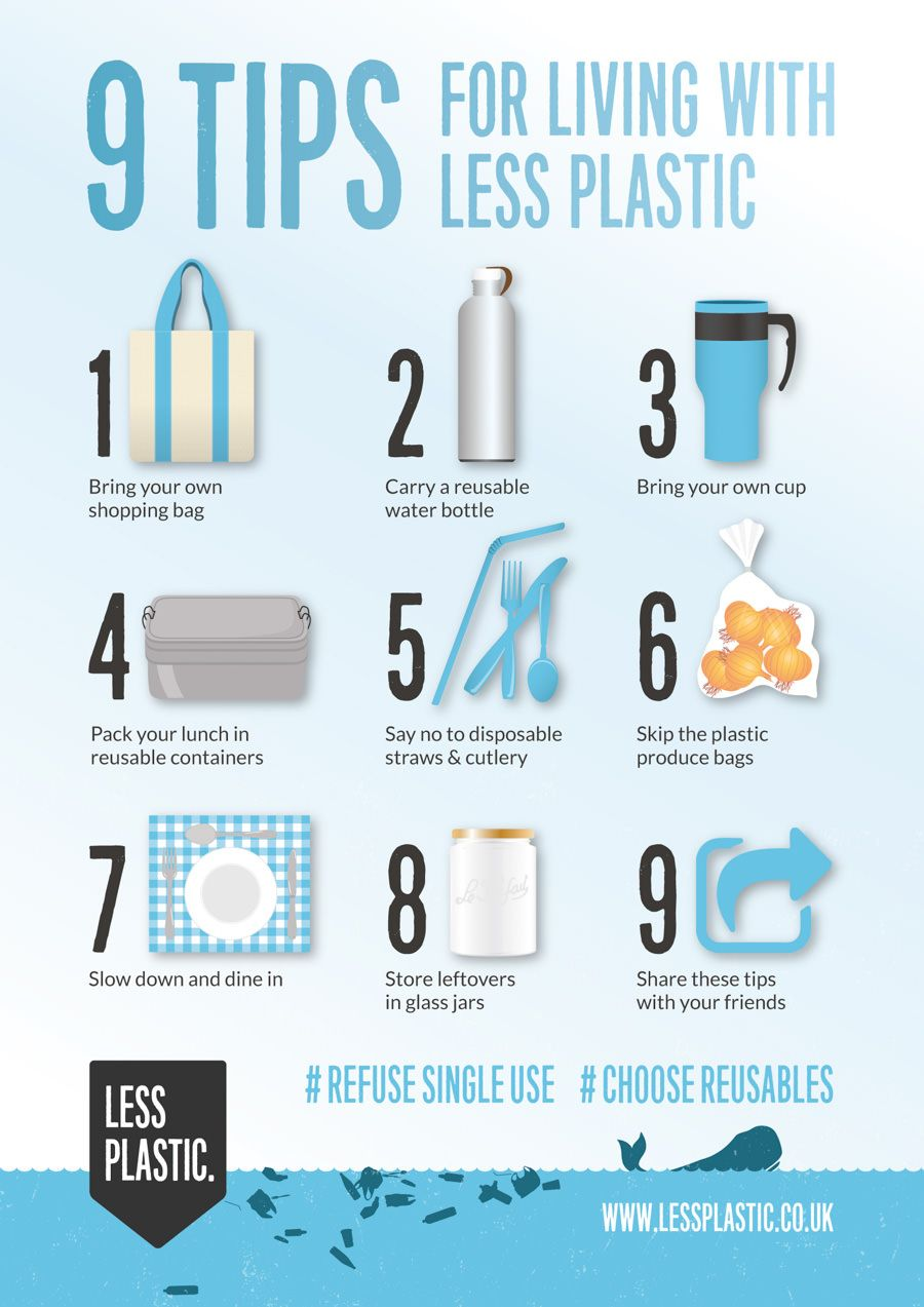 9 Tips for living with less plastic