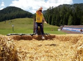 The straw jump in Valbona, Moena