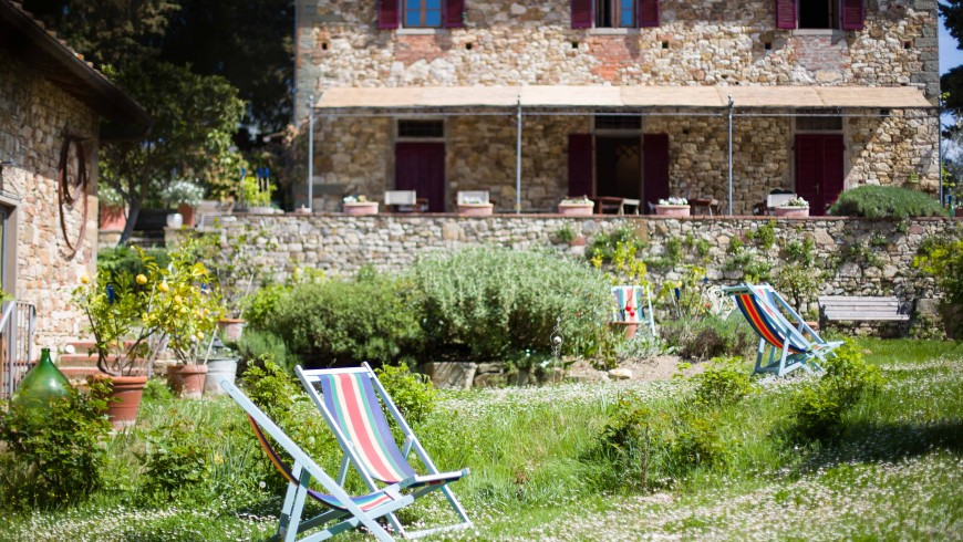 Hammocks and moments of relaxation at B&B Ancora del Chianti
