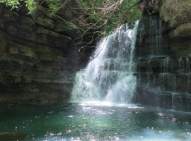 rivers and waterfalls close to Casa al Giogo