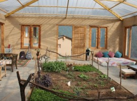 Green eco-stay in India, architecture