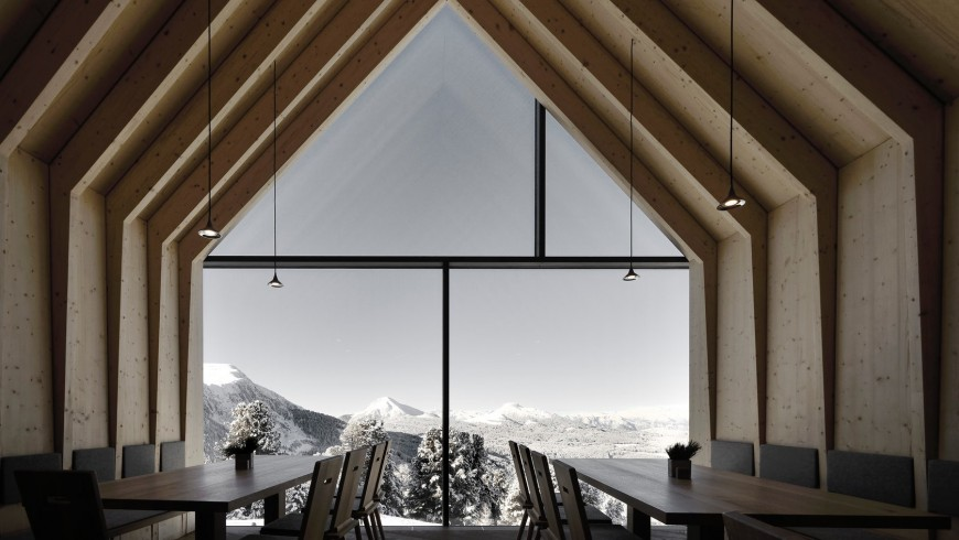 wonderful view of the mountains from the hut's veranda