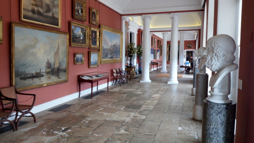 Room of the house of Bowood, furnished by Robert Adam