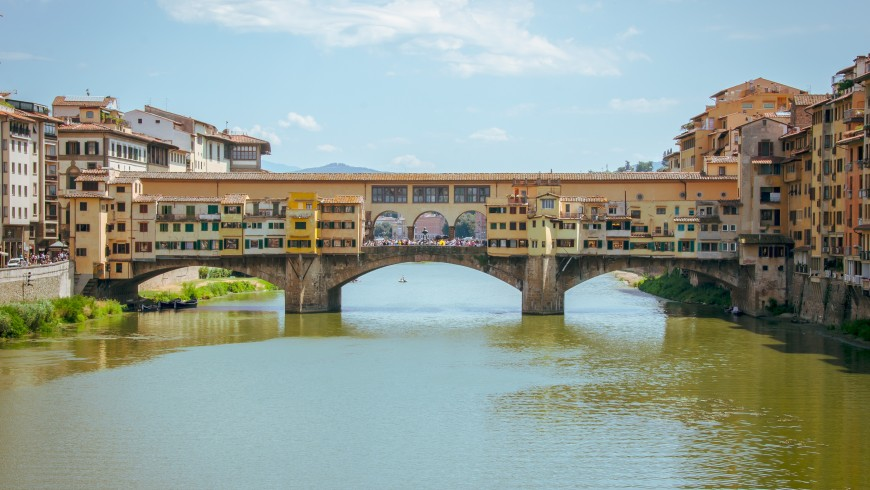 Unusual Florence, seen from the river Arno