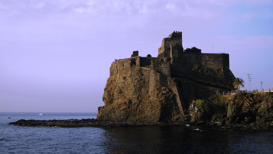 The castle of Aci Castello, Sicily