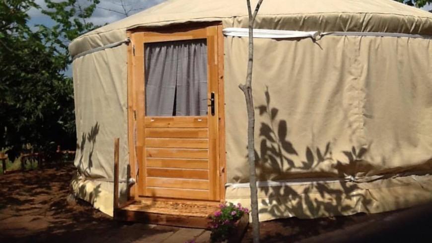 Sleep in a yurt in Tuscany