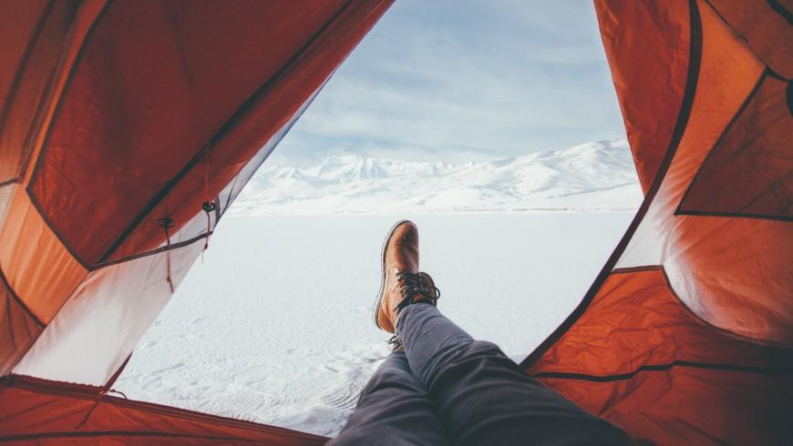 Tent in winter