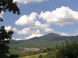 The landscape surrounding Podere di Maggio