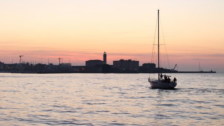 Sailing Boat in Molo Audace, Trieste