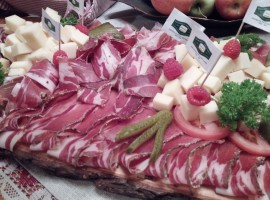 Val di Funes, Speck and cheese