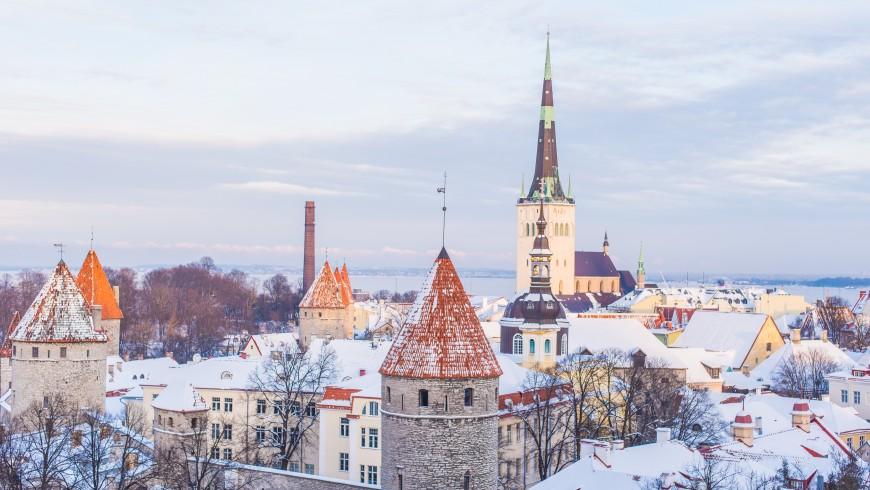 Tallin, Old Town, Snow