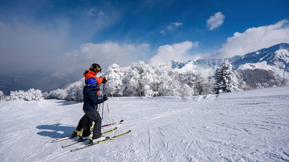 Soft mobility in Alpe di Mera (Piemonte)