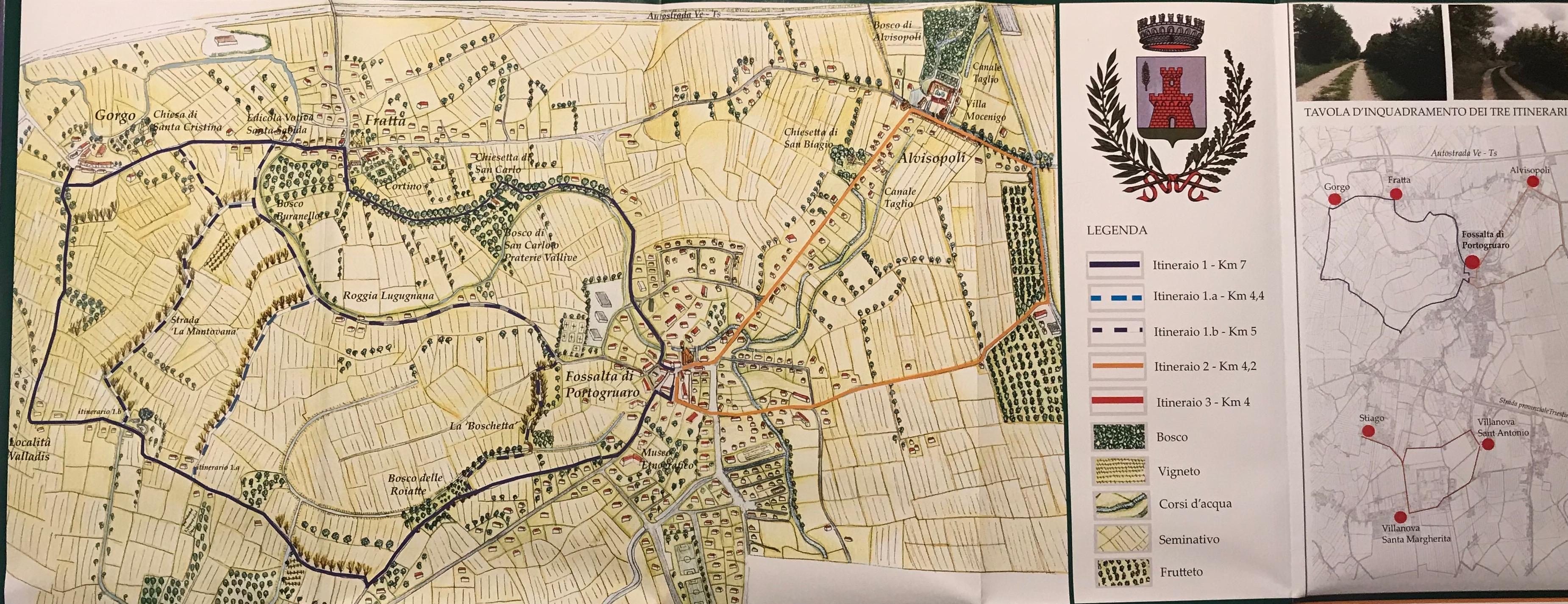 Fossalta di Portogruaro, itinerary