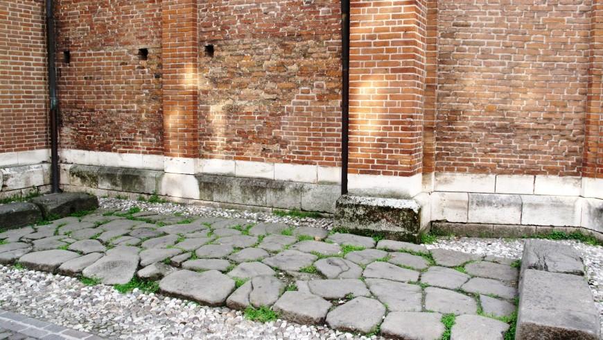 Roman Street in present-day Corso Fogazzaro