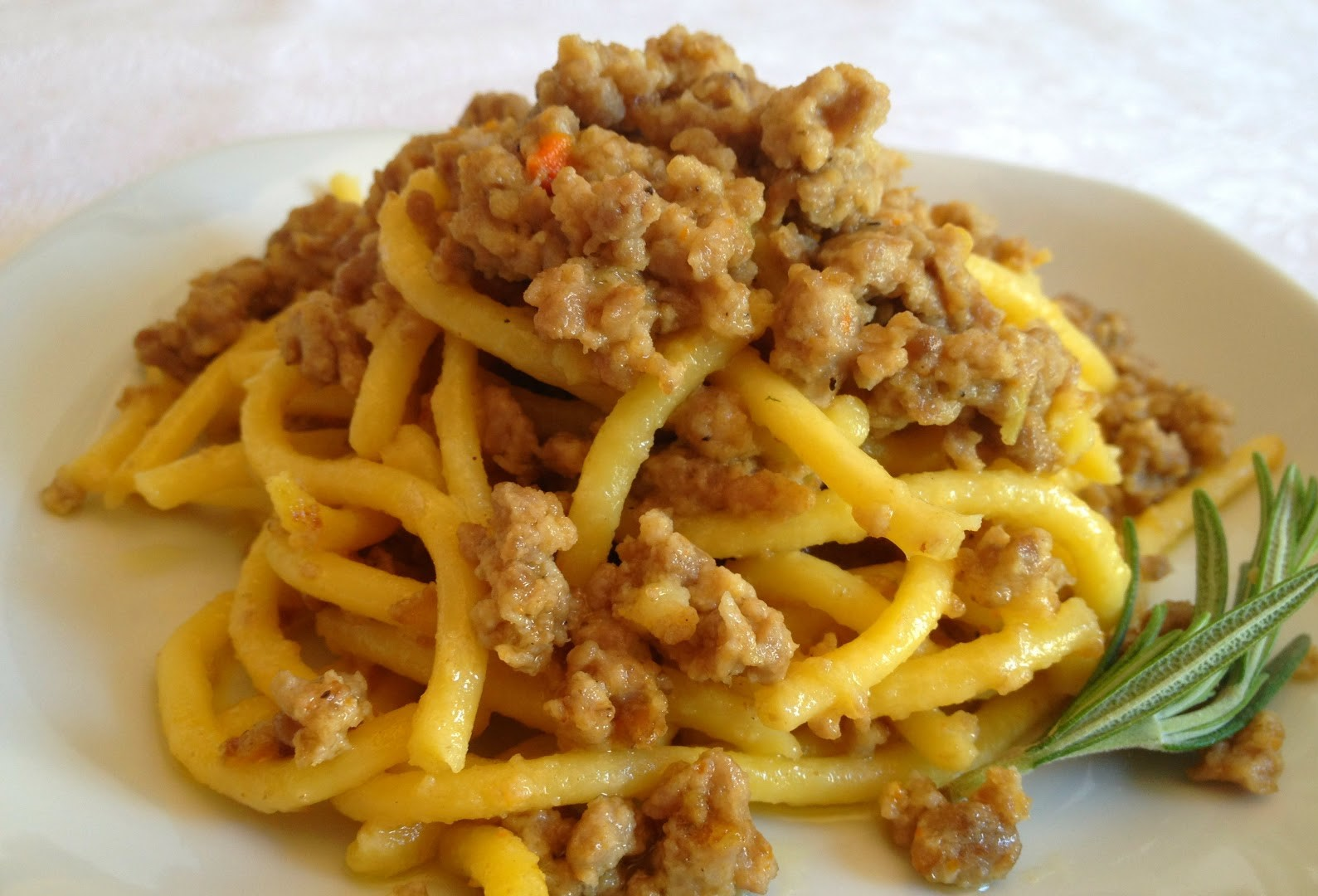 The typical bigoli with duck ragù