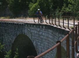 Bike path in Umbria