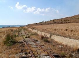Section of the old railway Castelvetrano-Ribera
